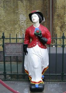 Roseau ship-figurehead, owned by Richard Mahony, that for many years welcomed passengers to Dover's cruise liner terminal and then shopper to De Bradelei Wharf. LS