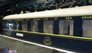 Compagnie Internationale des Wagons - the 'Blue Train' at York Railway Museum