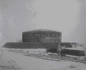 Oil Installations first tank built 1911. Source: DHB