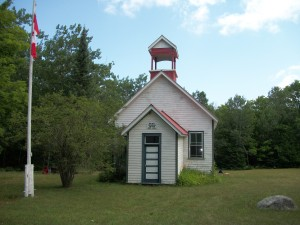 Cockburn School House, Cockburn Island, Manitoulin district, north eastern Ontario. Cllr Brenda Jones of Ontario, Canada.