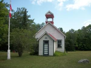 Cockburn School House, Cockburn Island, Manitoulin district, north eastern Ontario. Cllr Brenda Jones of Ontario, Canada.