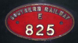 Southern Railway Engine plaque 825 - Source: York Railway Museum