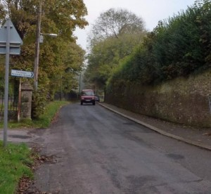 Old Charlton Road where Sir Henry was killed