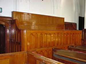 The former Dover Court jury box in the former Town Hall now the Maison Dieu, where the Samphire Inquest and Board of Trade Inquiry were held.