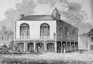 Town Hall, Court Hall and sometimes called Guildhall - Market Square - built 1605 demolished 1861 where voting took place following an 1825 Act of Parliament