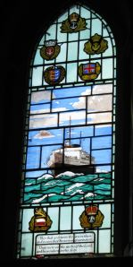 Seafarers Window, St Mary's Church with the Invicta
