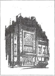 Granada Gala Opening Front Cover of programme 8 January 1930, Eveline Robinson