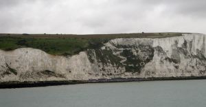 Langdon Cliffs with Swingate Down behind where the airfield was situated. Alan Sencicle