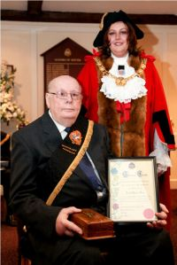 Bob Tant - Honorary Freeman 2010 with Mayor Sue Jones. Source: Dover Town Council