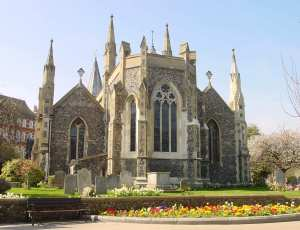 St Mary's Church from the south-east, one of the tourist envisaged tourist attractions. LS