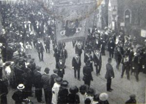 Oddfellows centenary march to St Mary's Church Sunday 16 October 1910 - Thanks to the Cinque Ports Warden Lodge