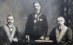 Oddfellows centenary officers 1910: W.S. Holbrook, John R. Wells & T.J. Dixon -Thanks to the Cinque Ports Warden Lodge