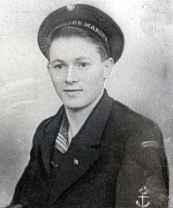 Olav Stromsoy Norwegian member of the British Navy No52 ML flotilla involved in the rescue team on the fateful night. Colin Stromsoy