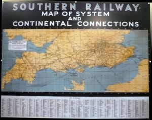 Southern Railway - Map of the System. Severn Valley Railway