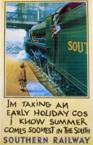 Southern Railway Poster - Thanks to East Lancashire Railway