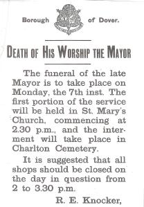 William East - Death of the Mayor 05.06.1926. Source Dover Library