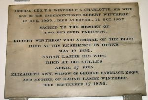 Admiral George Winthrop - St Mary's Church