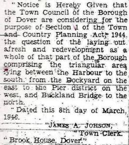 Compulsory Purchase Notice 08.03.1946