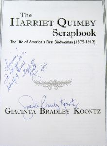 Harriet Quimby Scrap book by Giacinta Koontz 2011