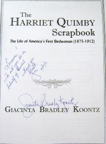 Harriet Quimby Scrap book by Giacinta Koontz 2011