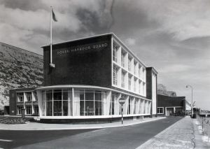 Dover Harbour Board reception terminal at Eastern Docks 1953. Lambert Weston for DHB