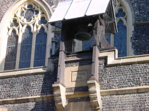 Zeebrugge Bell outside the Maison Dieu, formerly Dover Town Hall, that was rung by Francis O'Connor on the night of Friday 31 October 1925. Alan Sencicle