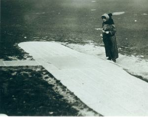 Harriet before the epic flight of 16 April 1912 at the Blériot Monument. Giacinta Koontz