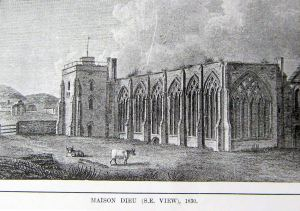 Maison Dieu circa 1830. LS Collection
