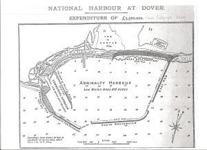 Map of Admiralty Harbour. Daily Telegraph 1909
