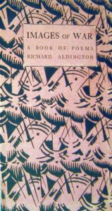 Richard Aldington- Images of War 1919 front cover, designed by Paul Nash and published by Cyril William Beaumont of Beaumont Press