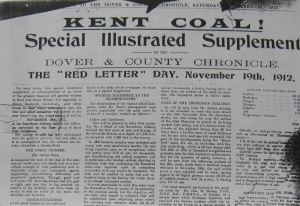 'Red Letter Day' when the first commercial coal was raised at Snowdown Colliery 19.11.1912