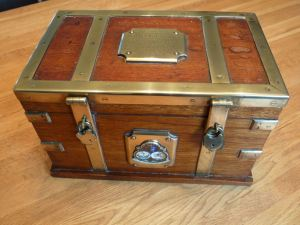 Vindictive Casket made from the ship's wood presented 192. Farley Family