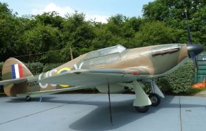 Hurricane replica - Battle of Britain Memorial, Capel