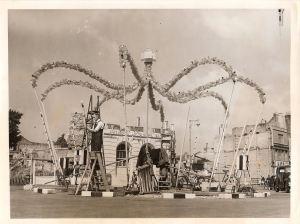 Market Square preparing for the Coronatation 1953. Dover Library