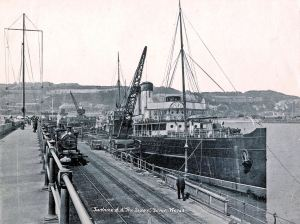Queen c1905-10 alongside Admiralty Pier, Dover. Dover Museum