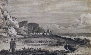 Smith's Folly, East Cliff from an original drawing by Rawle and engraved by John Nixon in 1801. Dover Library
