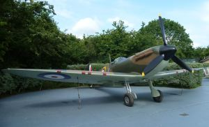 Spitfire replica - Battle of Britain Memorial, Capel.