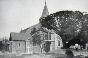 St Andrew's Church, Buckland, circa 1880s. Bob Hollingsbee