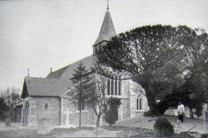 St Andrew's Church, Buckland, circa 1880s. Bob Hollingsbee