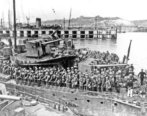 Admiralty Pier Troop Movement during World War I. Dover Museum