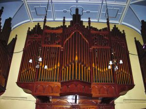 Organ presented to the town by Dr Edward Ferrand Astley in 1902, Connaught Hall