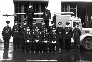 Auxiliary Fire Servicemen following formation in 1938. Dover Museum