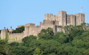 Dover Castle where prisoners were kept during theWars of the Austrian Succession (1740-1748)