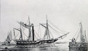 Curaçao - (formerly Calpe), one of the first steam ships to cross the Atlantic. Dover Harbour Board