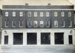 Dover Fire Station shortly after opened 2 December 1931 in Ladywell. Dover Library