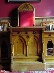 George Flashman made all the furnishings in the old Council Chamber, Maison Dieu, and on completion donated the Lectern in 1868.