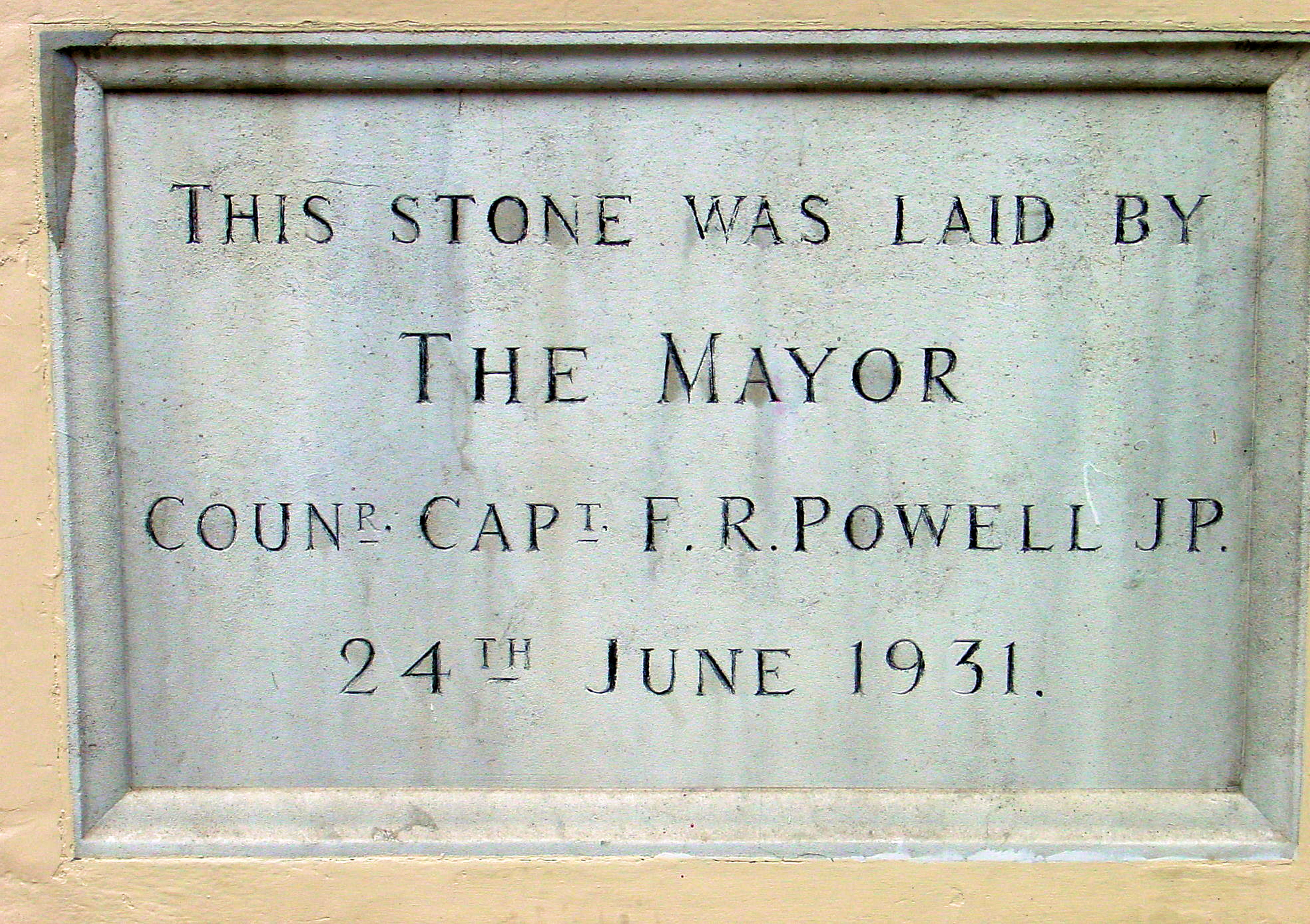 th foundation stone for the fire station in ladywell by mayor capt f r powell 24 06 1931 alan sencicle 2009 heritage wire harness fort payne ford ac heater wiring diagram led heritage wire harness at gsmx.co