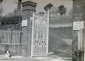 Isolation Hospital Gates, Noah's Ark Road.  Dover Library