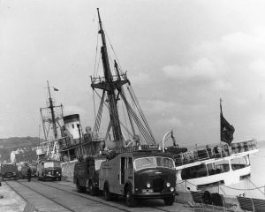 Kayseri 7 September 1961 along side the Prince of Wales Pier. John Meakins & Roger Marden collection Fire Fighting in Kent