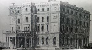 Lord Warden Hotel shortly after opening in September 1853.